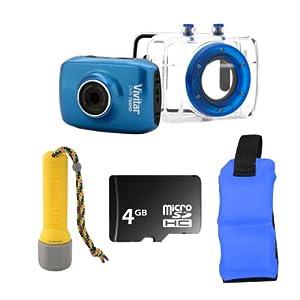 Vivitar DVR785HD Sports Action Waterproof Touchscreen Camera + 4GB Accessory Kit