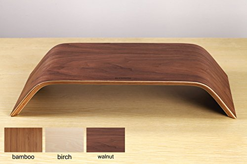 Samdi® Macbook Wooden Monitor Stand,Walle Shop® [Vintag][minimalism] Riser Stand, Shelf Stand for all Macbook.See eye-to-eye with your Monitors. (walnut)