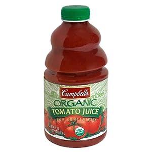 Campbell's Organic Tomato Juice, 46-Fl Oz Bottles (Pack of 12)