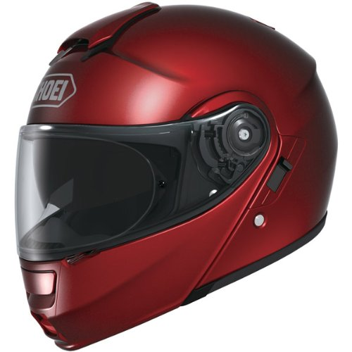 Shoei Metallic Neotec Road Race Motorcycle Helmet - Wine Red / Medium