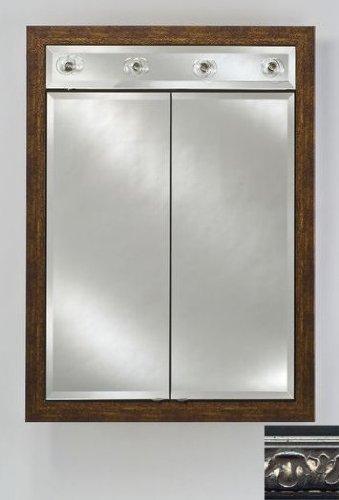 Signature Double Door Medicine Cabinet Lights Finish: Valencia Silver, Size: 24