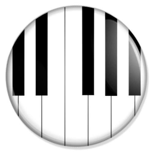 Klavier-Button-Badge-Anstecker-Anstecknadel-Ansteckpin
