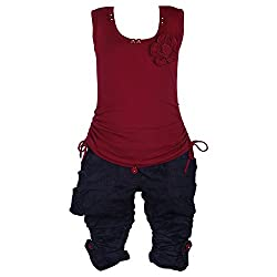 Wish KaroCasual wear top and capri setCSL89