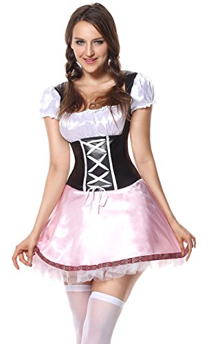 Sibeawen Women's Beer Garden Girl Oktoberfest Plus Size Costume