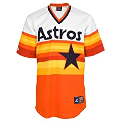 Nolan Ryan Houston Astros Rainbow Majestic Cooperstown Throwback Replica Jersey by Majestic