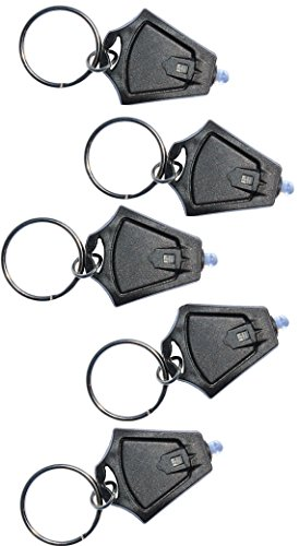 Finware 5 Pack LED Keychain Flashlight, Ultra Bright Mini Key Chain Light Torch, Batteries Included
