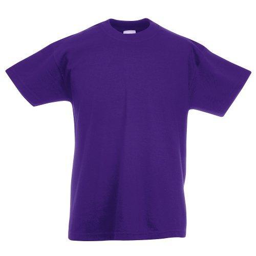 Fruit of the Loom - Kids Value Weight T / Purple, 164 164,Purple