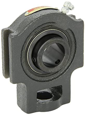 "Sealmaster ST-20 Take-Up Unit, Standard Duty, Regreasable, Setscrew Locking Collar, Felt Seals, Cast Iron Housing, 1-1/4"" Bore, 17/32"" Slot Width, 3-1/2"" Between Frames"