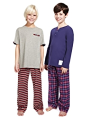 2 Pack Autograph Cotton Rich Pyjamas