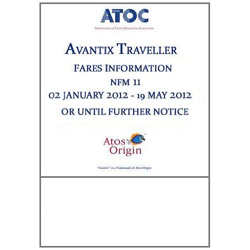 Avantix Traveller Fares Information NFM 11 02 January 2012   19 May 2012 or Until Further Notice