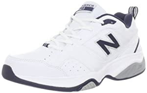 New Balance Men's MX623 Cross-Training Shoe,White/Navy,10.5 4E US