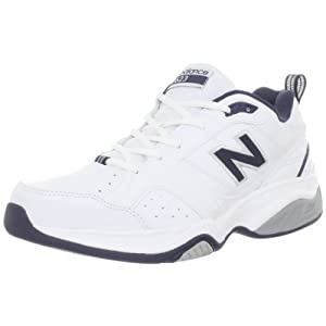 New Balance Men's MX623 Cross-Training Shoe,White/Navy,8.5 D US