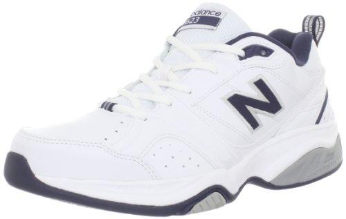 New Balance Men's MX623 Cross-Training Shoe,White/Navy,9 4E US