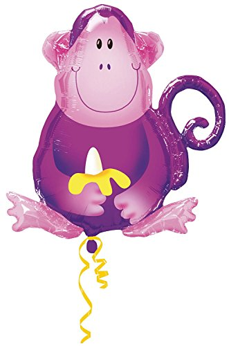 "28"" Jungle Party Purple Monkey Balloon - 1"
