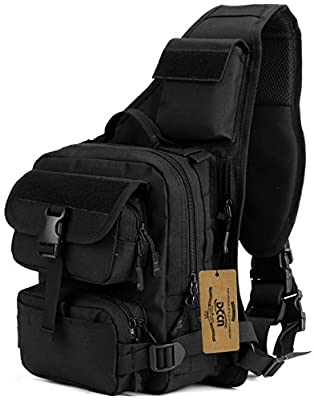 Tactical Chest Pack Cross Body Canvas Military Molle Shoulder Backpack Sling Chest Sports Hiking Bag Cross Body Bag from DCCN