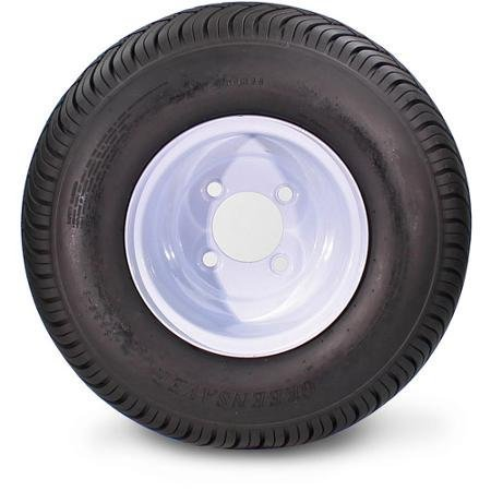 Greensaver Plus 18x8.50-8 LRB/4 Ply and 4 Lug White Wheel (Greenball Trailer Tires compare prices)