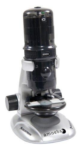 Celestron Amoeba Dual Purpose Digital Microscope 44326 Color: Gray