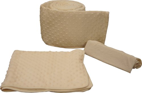 Tadpoles Dimple Velour Portacrib Set, Natural - 1