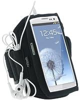 igadgitz Noir Armband Brassard Sport pour Samsung Galaxy S3 III i9300 Android Smartphone Jogging Gym