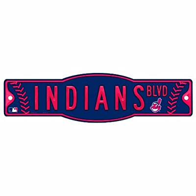 MLB Cleveland Indians 4.5-by-17 Sign