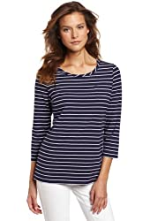 Pendleton Women's Three-Quarter Sleeve Stripe Tee
