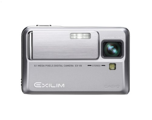 Casio EXILIM Hi-Zoom EX-V8 is one of the Best Ultra Compact Point and Shoot Digital Cameras for Action and Low Light Photos Under $400