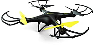 U45 Drone with HD Camera - Altitude Hold and One Button Take Off and Landing - RC Quadcopter Includes BONUS 4GB SanDisk Micro SD Card and Extra Battery (Exclusive Black Yellow Color)