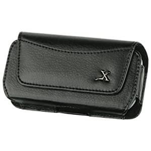 FOR SAMSUNG HIGHLIGHT SGH-T749 / COME BACK T559 / SOLSTICE SGH-A887 PREMIUM BLACK LUXMO CASE POUCH HOLSTER