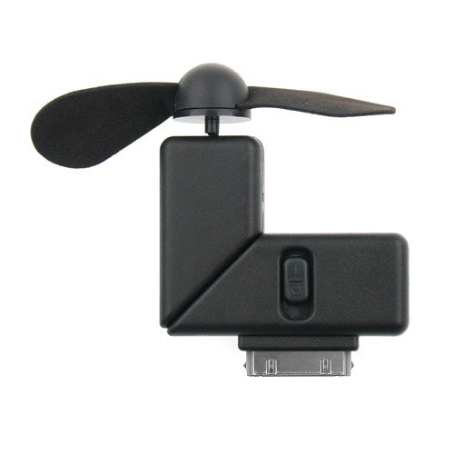 Niceeshop(Tm) Black Mini Cool Portable Dock Cooler Fan Gadgets For Iphone 4 4S