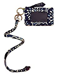 Vera Bradley Zip Id Case and Breakaway Lanyard in Petal Splash