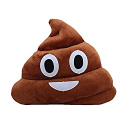Grabadeal Soft Smiley Emoticon Dark Brown Cushion Pillow Stuffed Plush Toy Doll (Happy Poo)