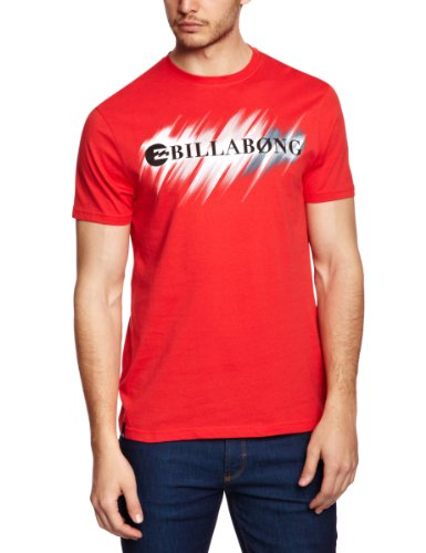 Billabong Neon Strike Through Shortsleeve Logo Men's T-Shirt Flame Small