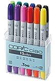 Copic CZ22075312 ciao Basis-Set Marker 12er Set BV08, V09, RV04, R29, YR07, Y06, YG06, G17, BG09, B29, E29, 100