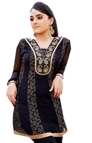Jayayamala-Georgette-Tunic-Ladies-Shirt-top-with-embroidery-work