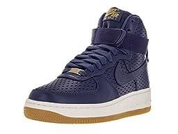 Nike Women\'s Air Force 1 Hi Prm Dk Purple Dust/Dk Purple Dust Basketball Shoe 6 Women US