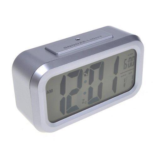 Neewer Silver Digital Multifunctional Alarm Clock With Sure Alarm Easy Read