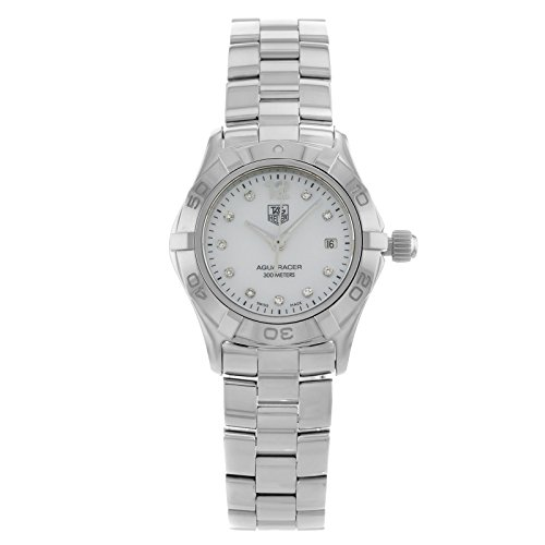 TAG-Heuer-Womens-WAF1415BA0824-Aquaracer-28mm-Stainless-Steel-Diamond-Dial-Watch
