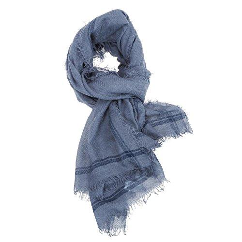 Jack & Jones sciarpa coperta coprispalle jjwashed Woven Scarf 195cm x 128cm Blu (wing teal) Taglia unica