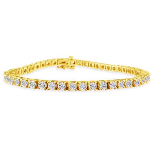 2ct Diamond Tennis Bracelet in 14k Yellow Gold