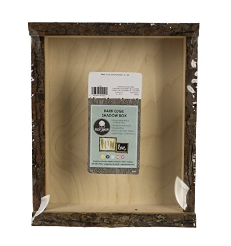 Walnut Hollow 41202 Natural Bark Edge Shadow Box For Arts, Crafts & Home Decor, Large (Large Shadow Boxes compare prices)