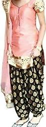 Sanjana Design Women's Pink Patiyala Georgette Dress Material ( KS6312_Free Size_Pink)