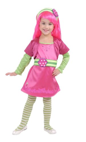 Rubies Strawberry Shortcake And Friends Deluxe Raspberry Tart Costume, Toddler front-529427