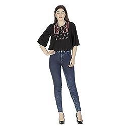 Gudi Women's Cotton Top_G5109BLACK-XL_Black_XL