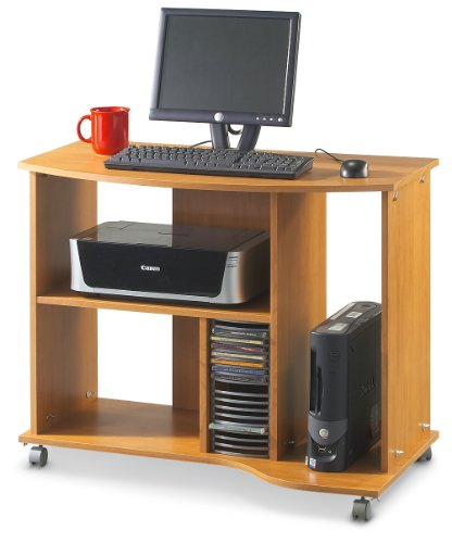 Buy Low Price Comfortable Canyon Maple – finish Computer Cart (B003BOUZZ2)