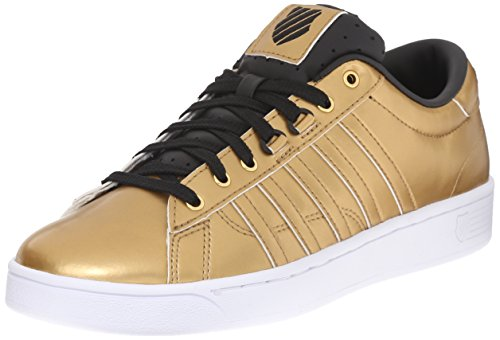 K-Swiss Women's Hoke Metallic CMF S Athletic Shoe, Gold/Black/White, 9 M US