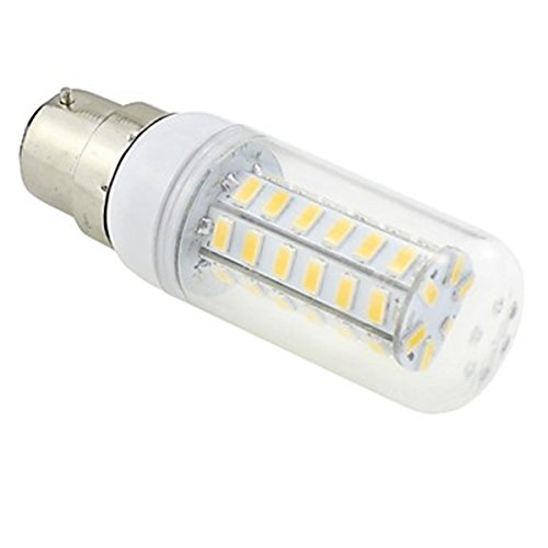Generic B22 7W 48X5730 Smd 550~600Lm 3000~3500K Warm White Light Led Clear Cover Corn Bulb Ac 220V~240V