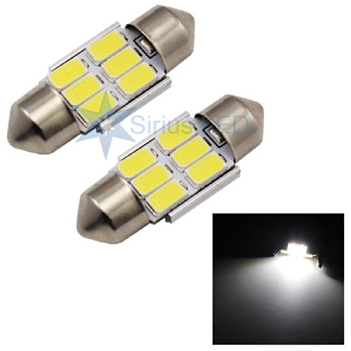 De3175 31Mm 5650 6Smd Festoon Dome Map Led Lights For Interior Package Of 2X