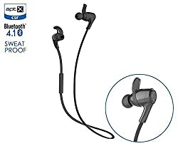 Rubility® Cannice Y3 Running Sport Wireless Bluetooth Earphone In-ear Earplugs Headphone Stereo Audio Double Track Headset for Smartphones (Black)