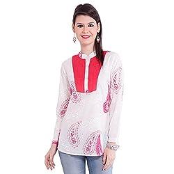 TUNTUK Women's Karishma Tunic White Cotton Tunic