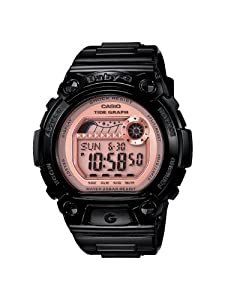 Casio Women's BLX100-1E Baby-G Shock Resistant Baby-G Shock Glide Black and Pink Multi-Function Watch